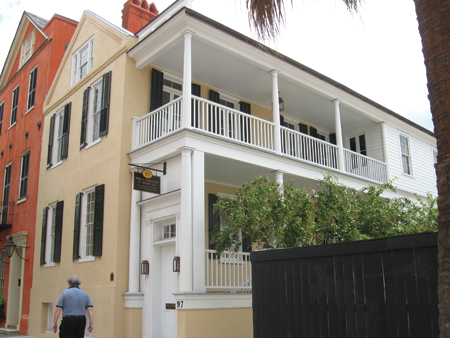 Townhouse Center - Charleston, South Carolina side-yard house ...